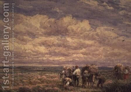 Broom Gatherers by David Cox - Reproduction Oil Painting