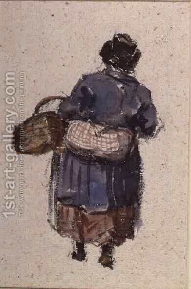 A Welsh Woman by David Cox - Reproduction Oil Painting