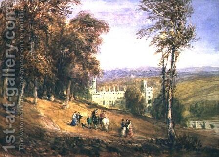 Haddon Hall by David Cox - Reproduction Oil Painting