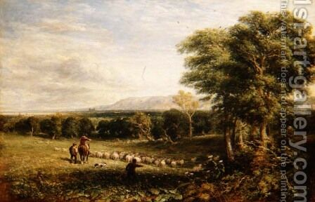 The Vale of Clwyd, 1849 by David Cox - Reproduction Oil Painting