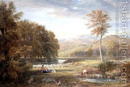 Pastoral Scene by David Cox - Reproduction Oil Painting