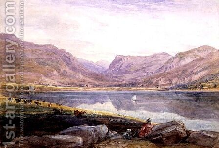 Tal-y-llyn, North Wales, 1831 by David Cox - Reproduction Oil Painting