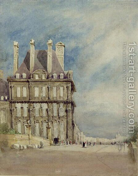 Pavillon de Flore, Tuileries, Paris by David Cox - Reproduction Oil Painting
