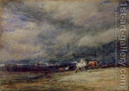 The Night Train, 1849 by David Cox - Reproduction Oil Painting