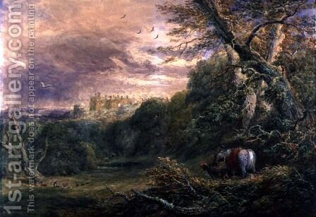 Powys Park, Montgomeryshire, c.1837 by David Cox - Reproduction Oil Painting
