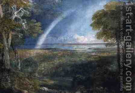 A Rainbow over the Severn by David Cox - Reproduction Oil Painting