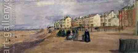 The Sea Front at Blackpool by David Cox - Reproduction Oil Painting
