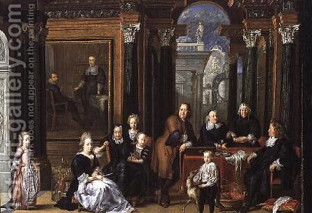 The Fay d'Herbe Family Portrait  1693 by Jan Anthonie Coxie - Reproduction Oil Painting