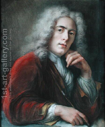 Portrait of the Artist by Charles-Antoine Coypel - Reproduction Oil Painting