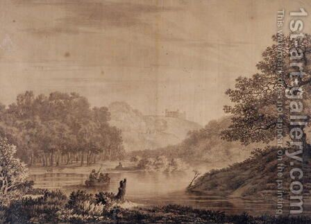 Landscape by Alexander Cozens - Reproduction Oil Painting
