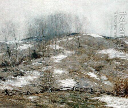 Lingering Winter 1925 by Bruce Crane - Reproduction Oil Painting