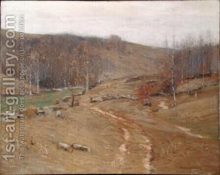 November Hillsides by Bruce Crane - Reproduction Oil Painting