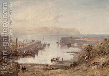 Eyemouth Harbour by Edmund Thornton Crawford - Reproduction Oil Painting