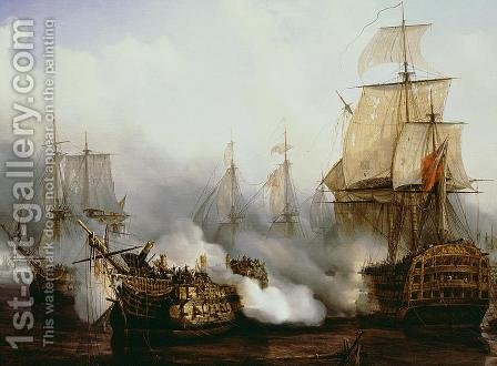 Battle of Trafalgar  1805 by Louis Philippe Crepin - Reproduction Oil Painting