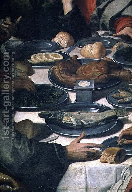 The Last Supper, detail of the food (detail) by Daniele Crespi - Reproduction Oil Painting