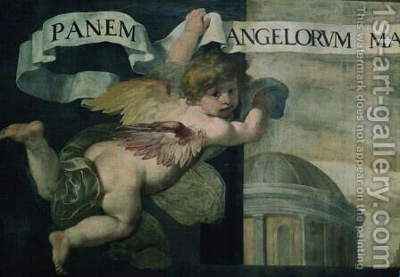 The Last Supper, detail of an angel by Daniele Crespi - Reproduction Oil Painting