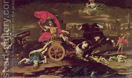 Achilles Dragging the Body of Hector around the Walls of Troy by Donato Creti - Reproduction Oil Painting