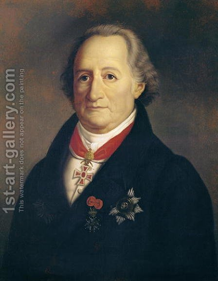 Portrait of Johann Wolfgang von Goethe (1749-1832) with Decorations by Heinrich Cristoph - Reproduction Oil Painting