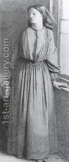 Portrait of Elizabeth Siddal I by Dante Gabriel Rossetti - Reproduction Oil Painting