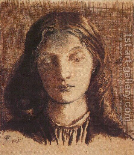 Portrait of Elizabeth Siddal II by Dante Gabriel Rossetti - Reproduction Oil Painting