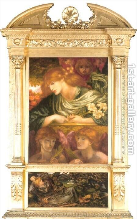 Self-Portrait 3 by Dante Gabriel Rossetti - Reproduction Oil Painting
