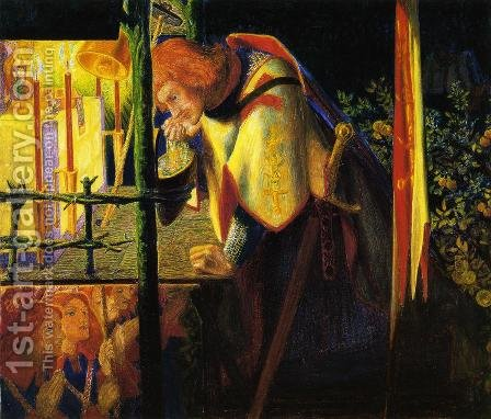 Sir Galahad at the Ruined Chapel by Dante Gabriel Rossetti - Reproduction Oil Painting