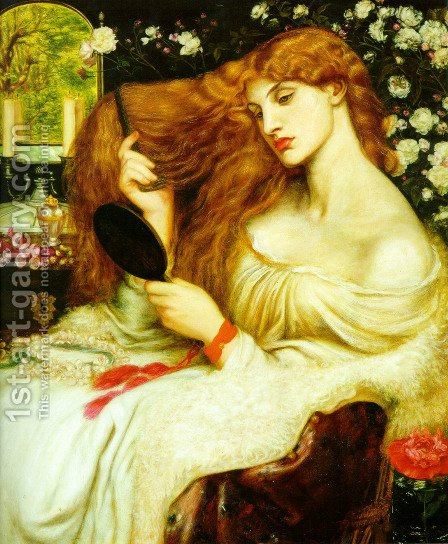Lady Lilith by Dante Gabriel Rossetti - Reproduction Oil Painting