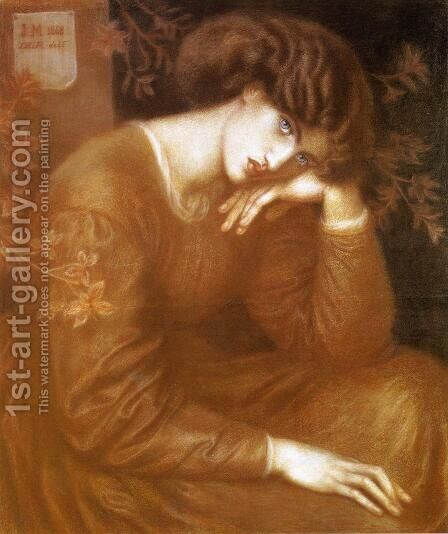 Reverie by Dante Gabriel Rossetti - Reproduction Oil Painting