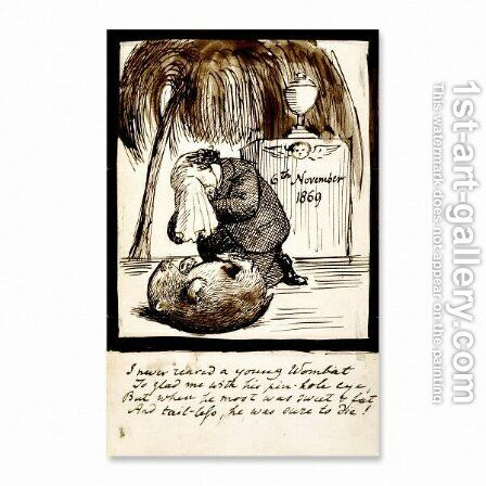 Rossetti Lamenting the Death of His Wombat by Dante Gabriel Rossetti - Reproduction Oil Painting