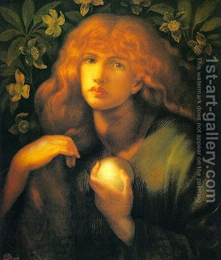 Mary Magdalen by Dante Gabriel Rossetti - Reproduction Oil Painting