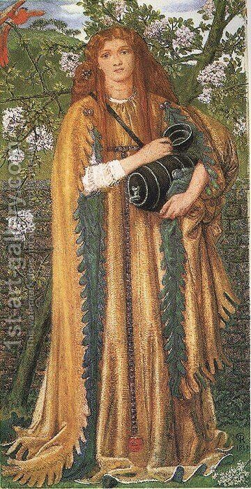 Golden Water by Dante Gabriel Rossetti - Reproduction Oil Painting