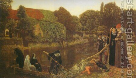 The Convent Boat by Arthur Hughes - Reproduction Oil Painting
