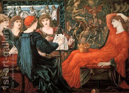 Laus Veneris by Sir Edward Coley Burne-Jones - Reproduction Oil Painting