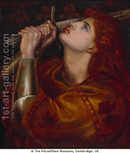 Joan of Arc by Dante Gabriel Rossetti - Reproduction Oil Painting