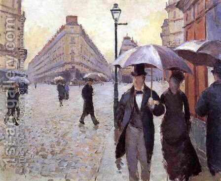 Paris Street: A Rainy Day (study) by Gustave Caillebotte - Reproduction Oil Painting