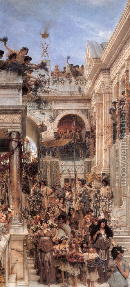 Spring by Sir Lawrence Alma-Tadema - Reproduction Oil Painting