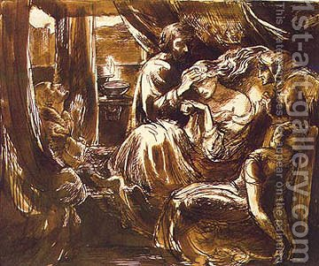 Study for the Death of Lady Macbeth by Dante Gabriel Rossetti - Reproduction Oil Painting