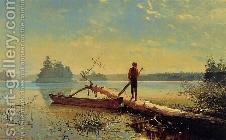 An Adirondack Lake by Herman Fuechsel - Reproduction Oil Painting