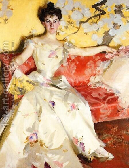 Portrait of Elizabeth Sherman Cameron by Anders Zorn - Reproduction Oil Painting