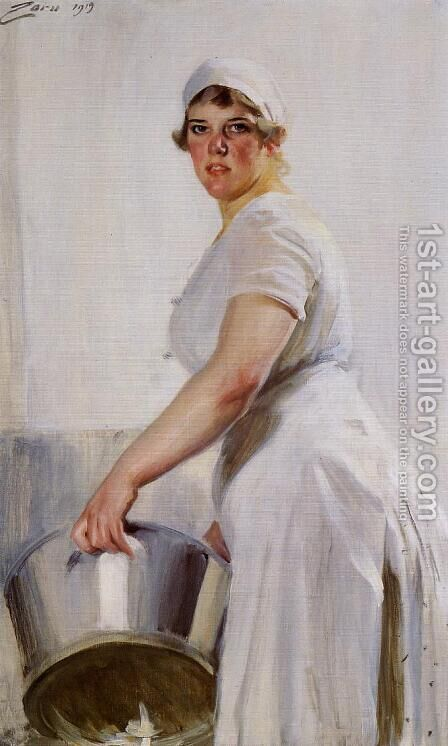 A Kitchen Maid by Anders Zorn - Reproduction Oil Painting
