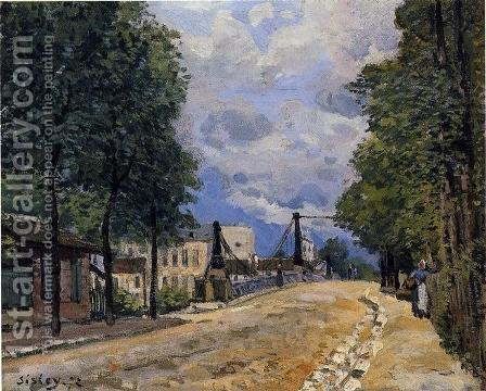 The Road from Gennevilliers by Alfred Sisley - Reproduction Oil Painting