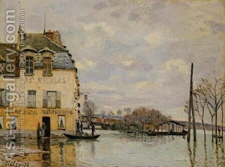 Flood at Port-Marly by Alfred Sisley - Reproduction Oil Painting
