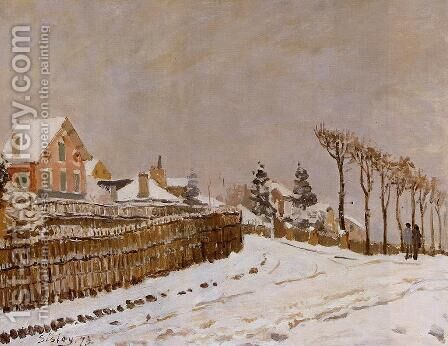 Snow at Louveciennes by Alfred Sisley - Reproduction Oil Painting