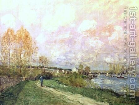 Summer at Bougival by Alfred Sisley - Reproduction Oil Painting