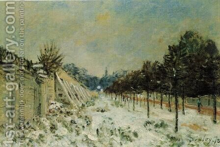 Snow at Marly-le-Roi by Alfred Sisley - Reproduction Oil Painting