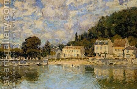 Horses being Watered at Marly-le-Roi by Alfred Sisley - Reproduction Oil Painting