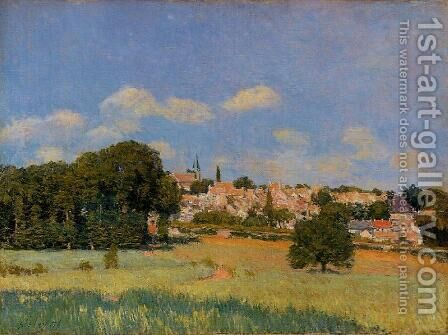 View of St. Cloud - Sunshine by Alfred Sisley - Reproduction Oil Painting