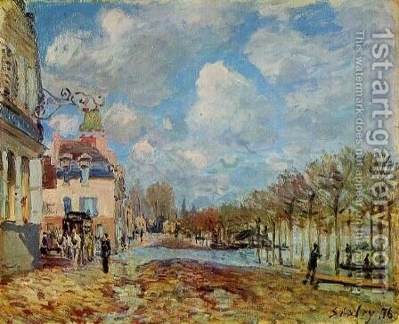 The Flood at Port-Marly by Alfred Sisley - Reproduction Oil Painting