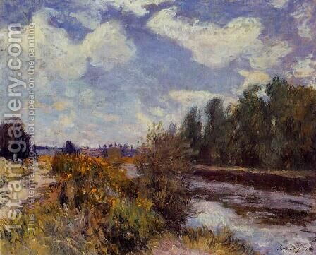 The Seine at Bougival III by Alfred Sisley - Reproduction Oil Painting