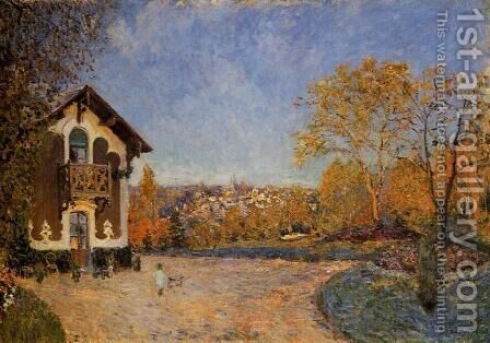 View of Marly-le-Roi from House at Coeur-Colant by Alfred Sisley - Reproduction Oil Painting